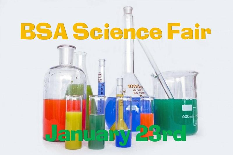 Picture of science beakers