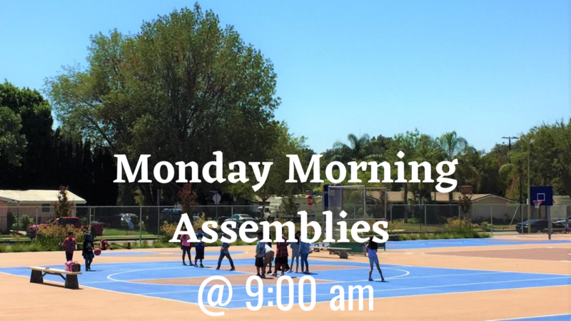 Join us at our Monday Morning Assembly at 9 am! Thumbnail Image