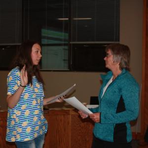Oath of Office for student board representative