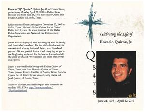 Horacia Quiroz, Jr. Memorial Service Program pg 1.jpg