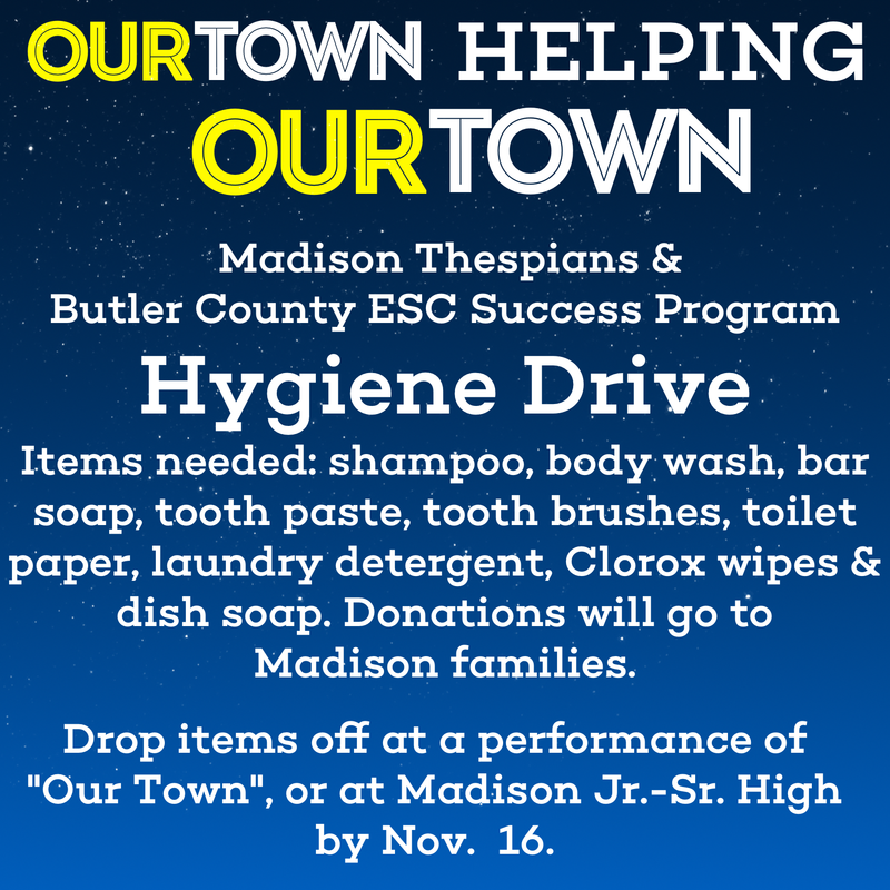 MADISON THESPIAN'S HOST A HYGIENE DRIVE Featured Photo