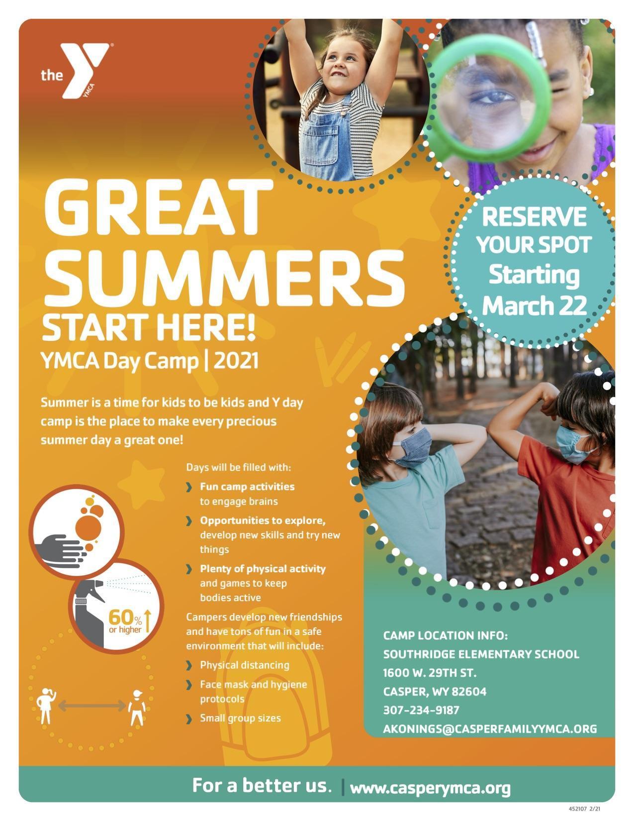 YMCA Summer Camp flyer