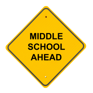 Road sign - Middle School Ahead
