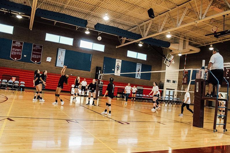 Alumni volleyball game
