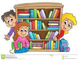 Kids at Bookcase