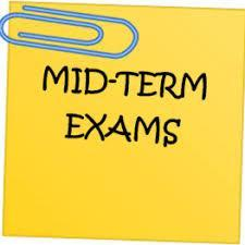Mid-term exam schedule Featured Photo