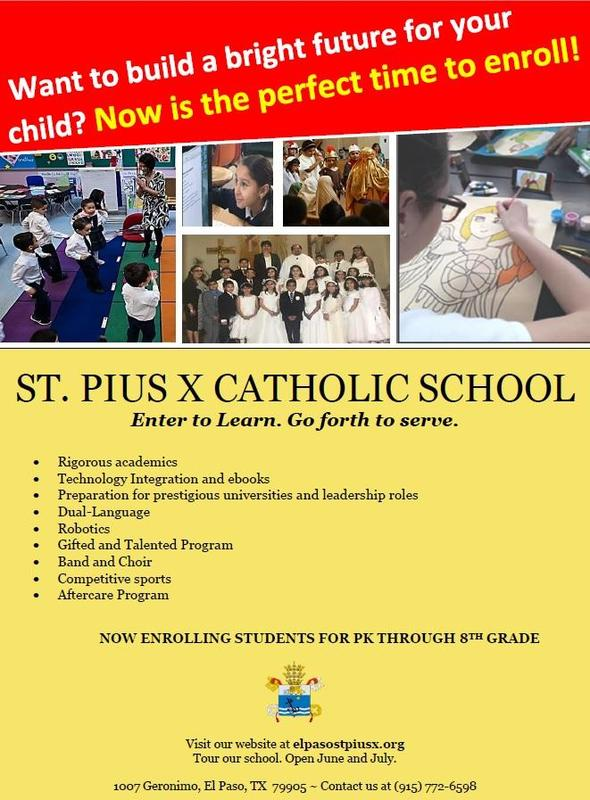 Enrollment Opportunities at St Pius X School Featured Photo