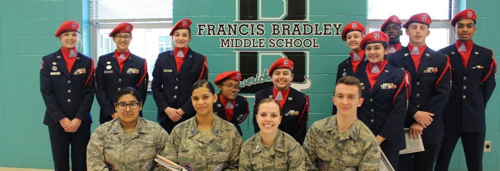 JROTC Service in Action at Bradley Middle School