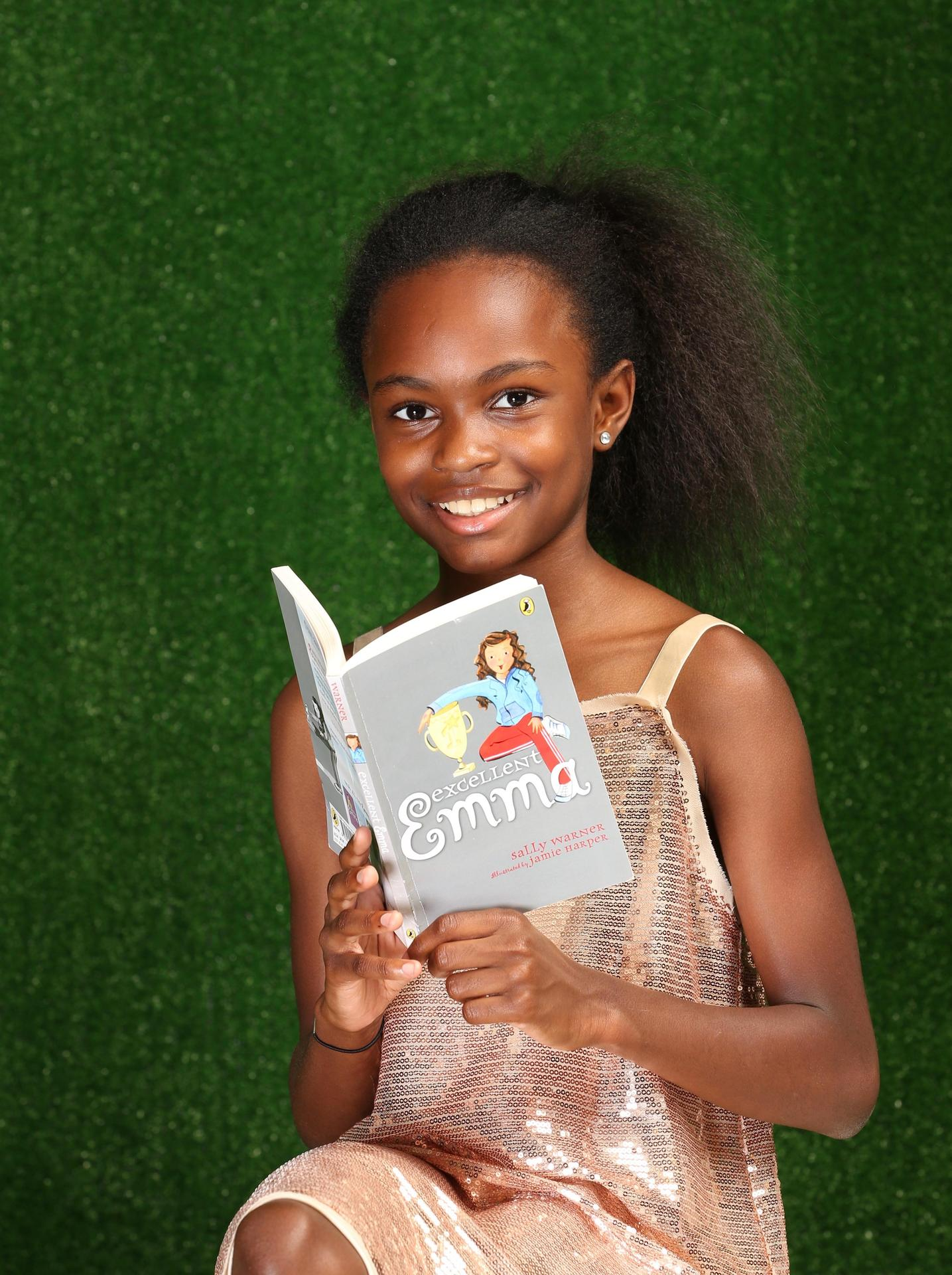 Emma Williams reading book