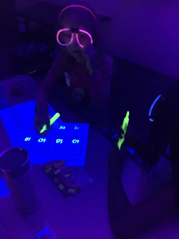 Students work on Glow Day