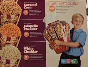 Popcorn sale flyer