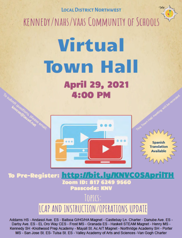 Local District Northwest Virtual Town Hall Featured Photo