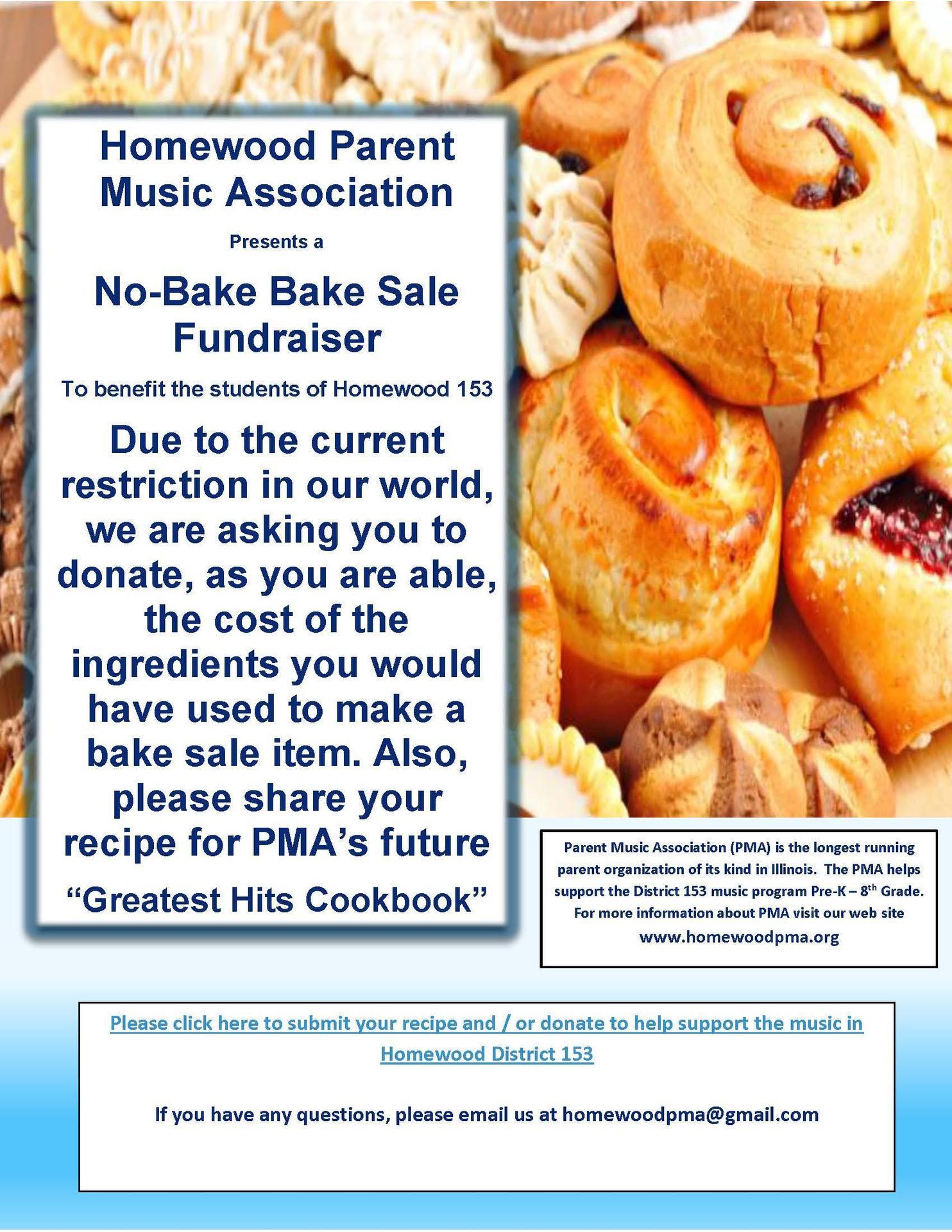 PMA No-Bake Bake Sale