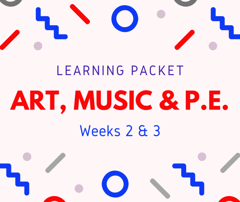 Art, Music & PE Learning Packet Featured Photo