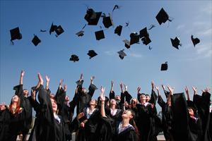 Photo of student's graduating