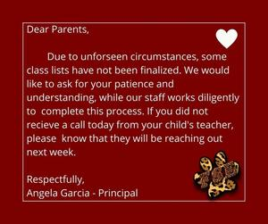 Update from Mrs. Garcia graphic