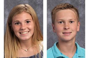 Mars Area eighth-graders Gwen Howell and Max Wickland were each selected to receive an American Legion Award.