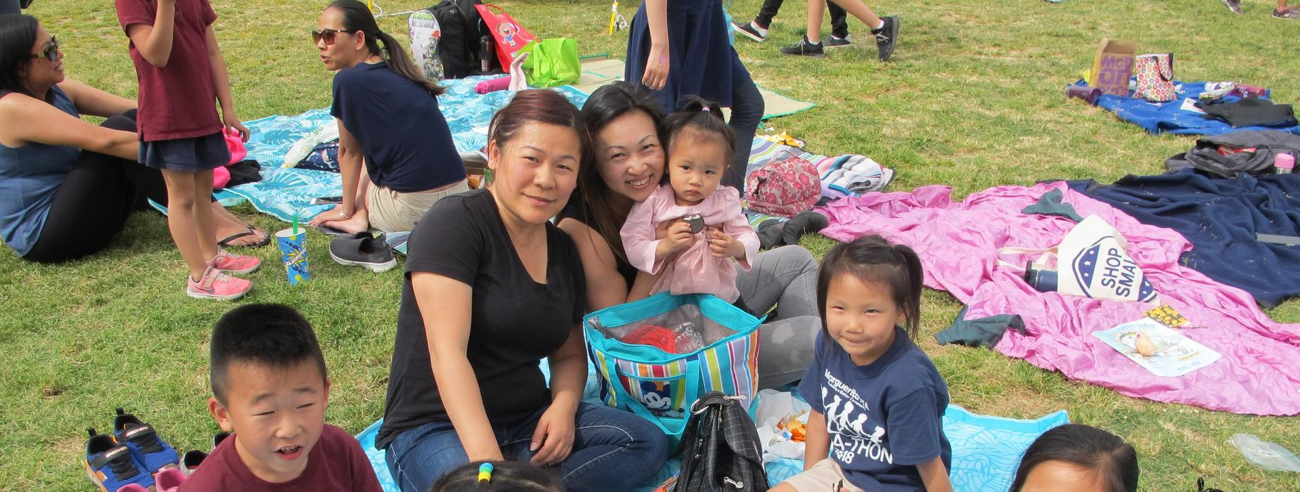 Marguerita students and family during picnic