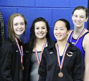 Girls silver medalist 400 yard relay team