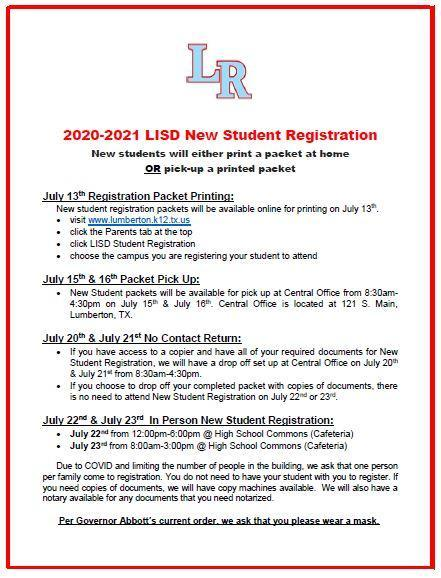 LISD New Student Registration