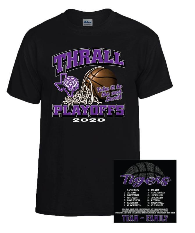 Tiger Basketball Playoff Shirt Orders DUE Thumbnail Image