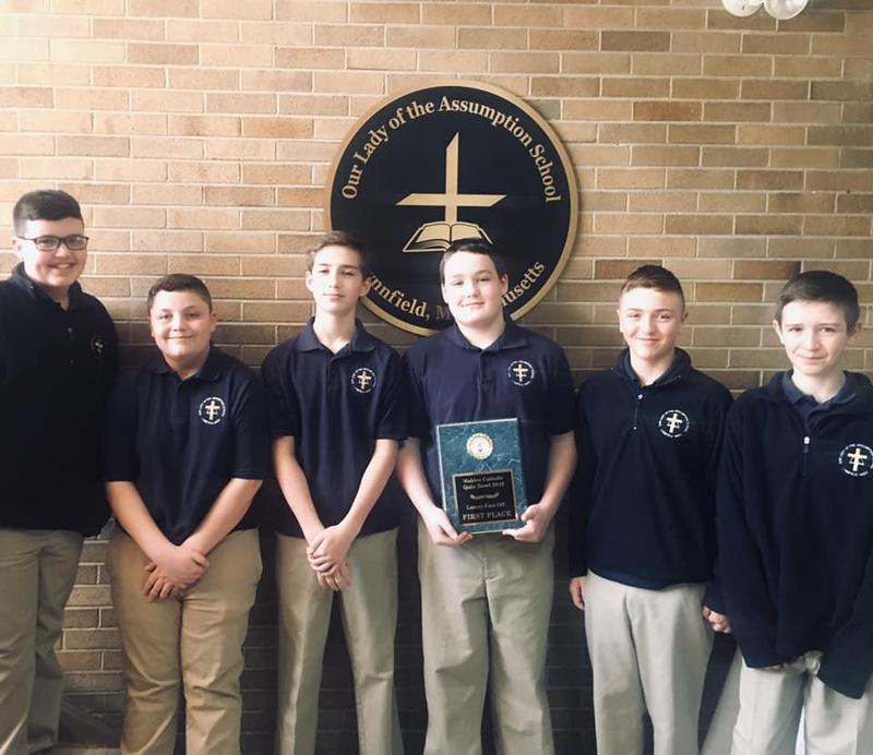 OLA Boys Win the 2019 Malden Catholic Quiz Bowl! Thumbnail Image