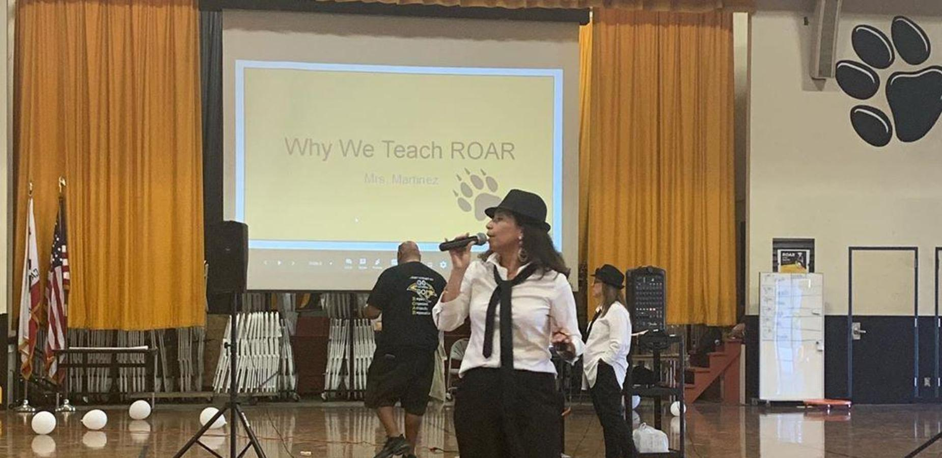 Students ROAR at PBIS Assembly