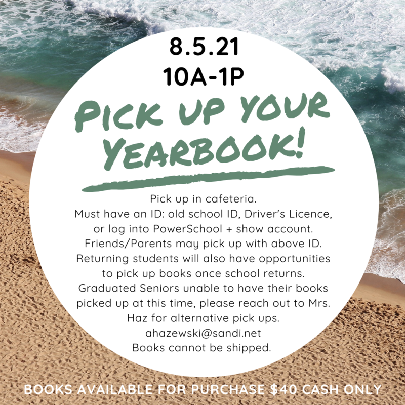 Yearbook Pickup - THURSDAY, AUGUST 5TH Featured Photo