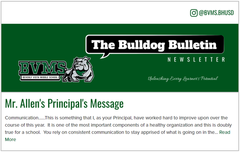 BVMS Newsletter - The Bulldog Bulletin - Feb 10, 2021 Featured Photo