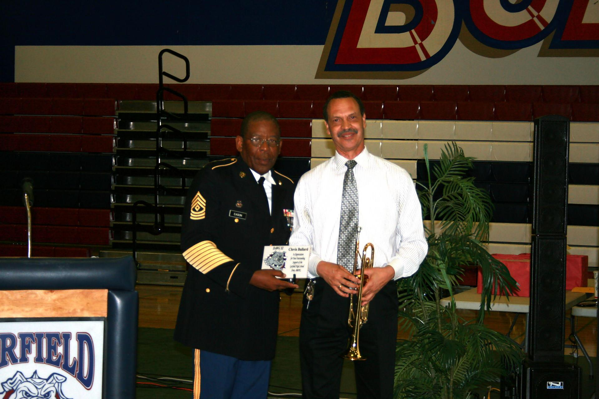 Sgt. Eason and Mr. Ballard