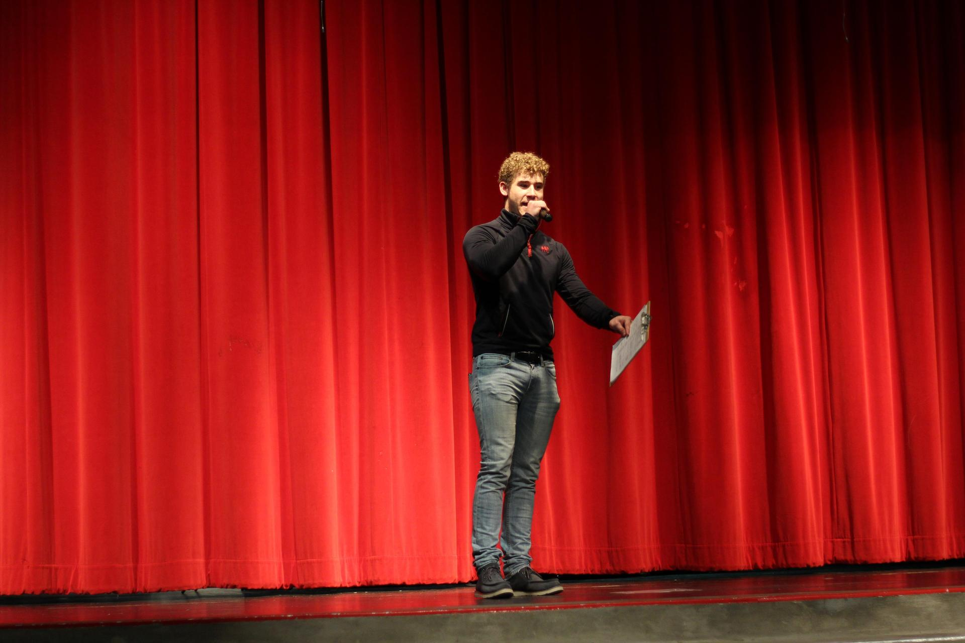 MC Cole Crawford at the NSL Talent Show.