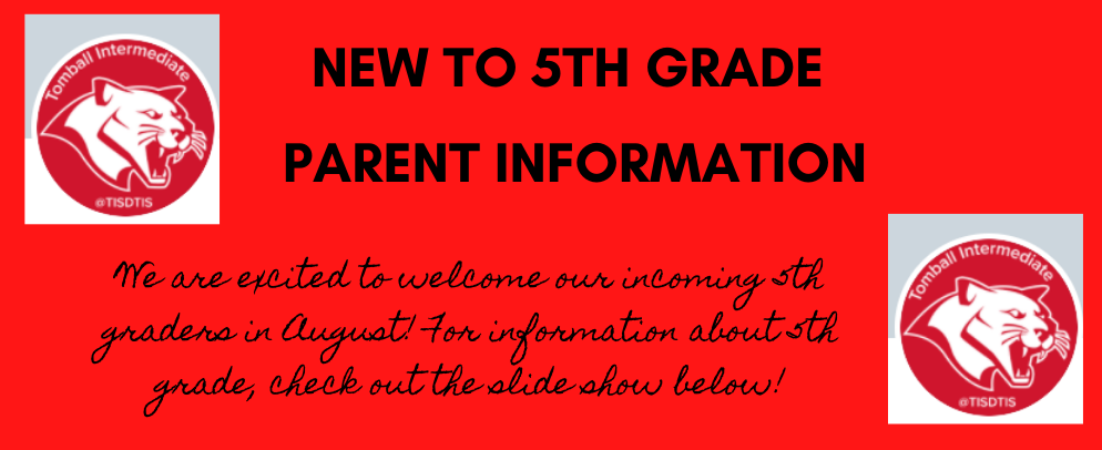 New to 5th Parent Info
