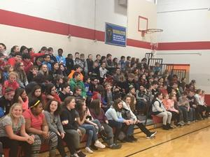 GMS Celebrations included assemblies, games and encouraging messages throughout the building.