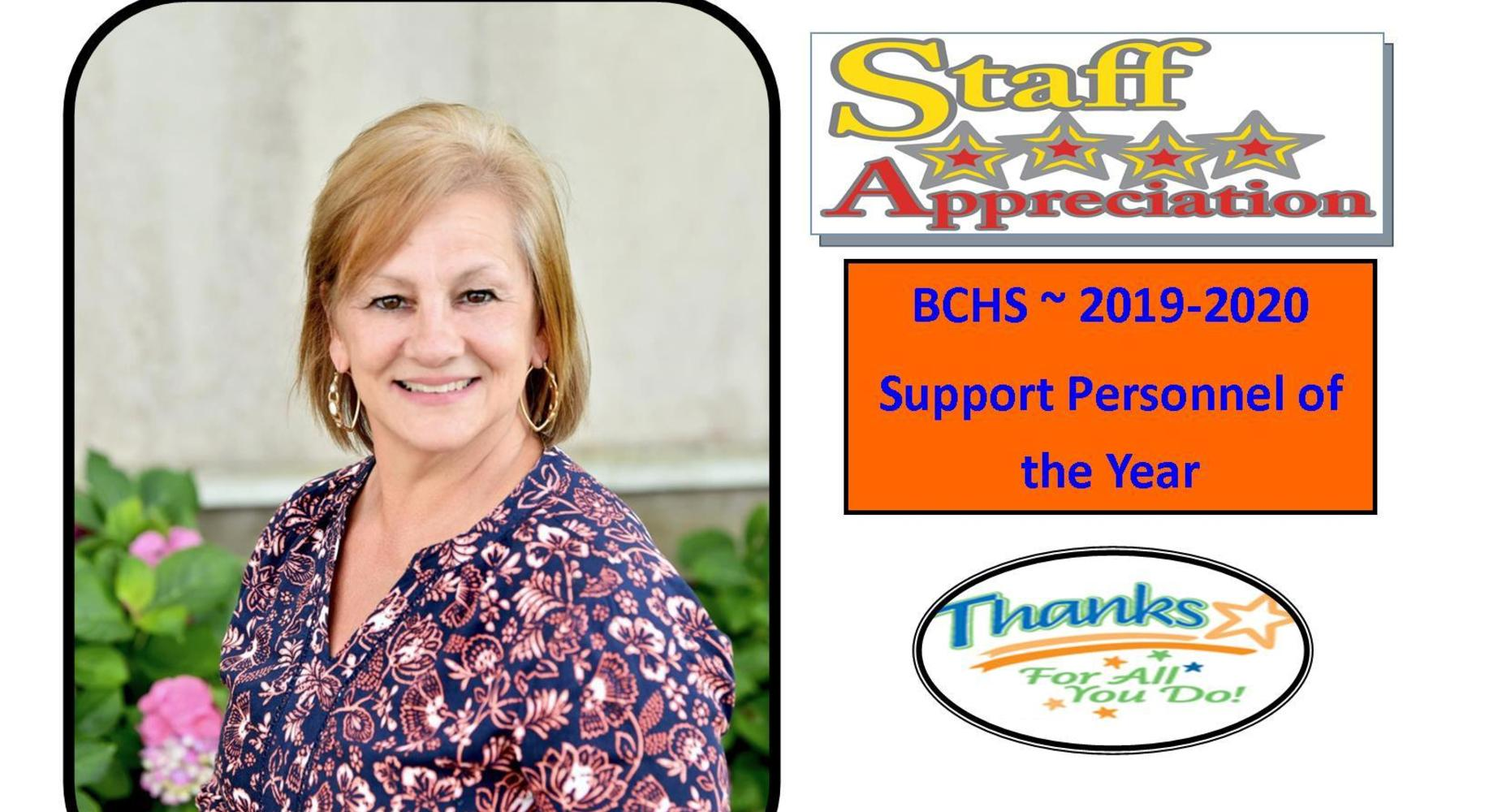 2019-2020 - Support Personnel of the Year - Mrs. Fay Leger