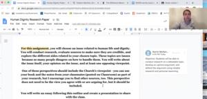 screenshot of teacher how to video