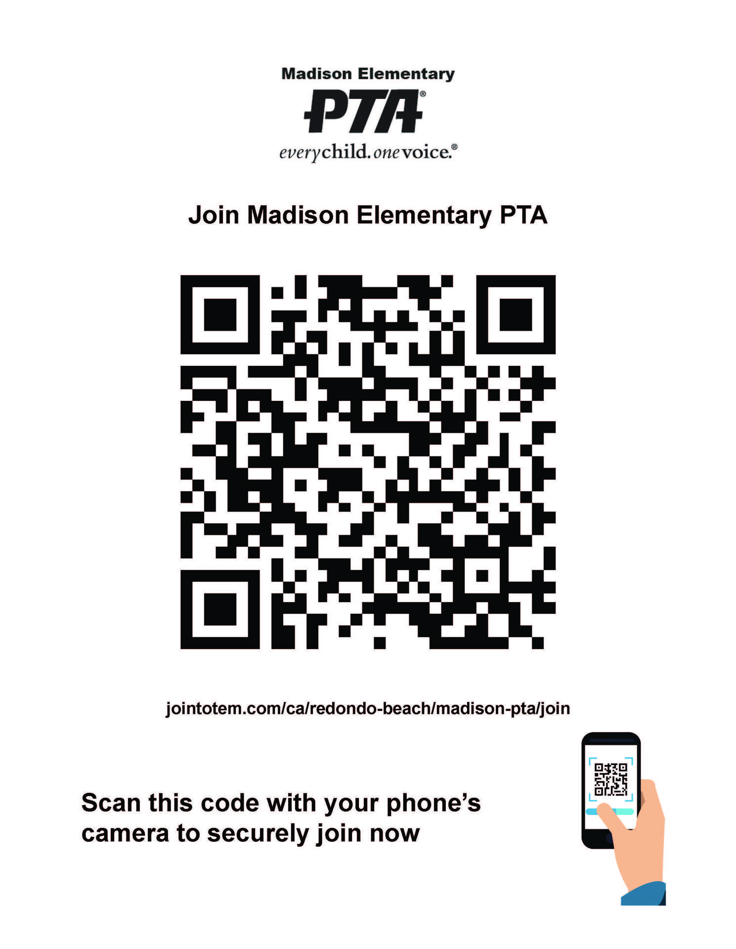Join Madison PTA QR Code