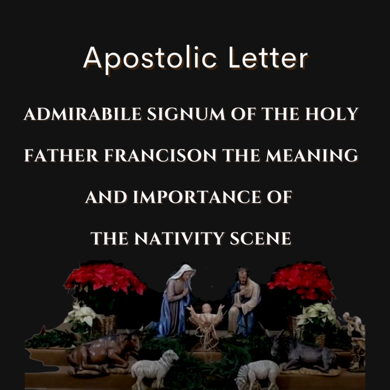 Pope Francis apostolic letter on the Nativity Featured Photo