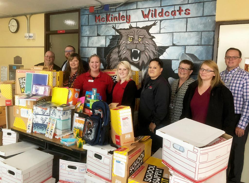 City Auto Plaza and Office Depot donate school supplies to McKinley group picture 3