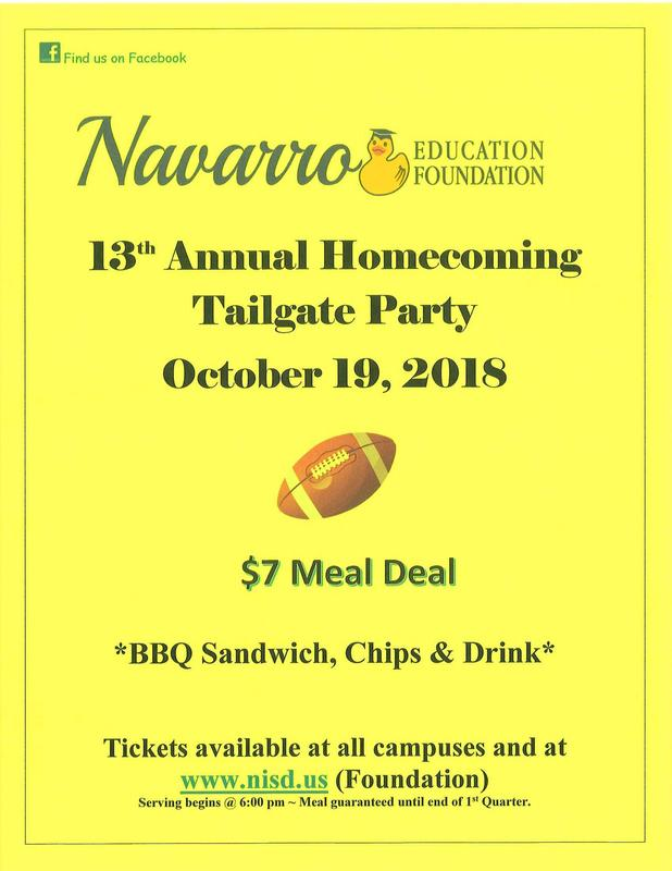Flyer for tailgate party