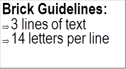 Brick Guidelines