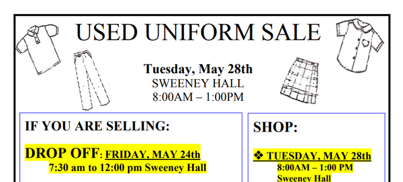 Learn More Here about our Used Uniform Sale at the End of May! Thumbnail Image