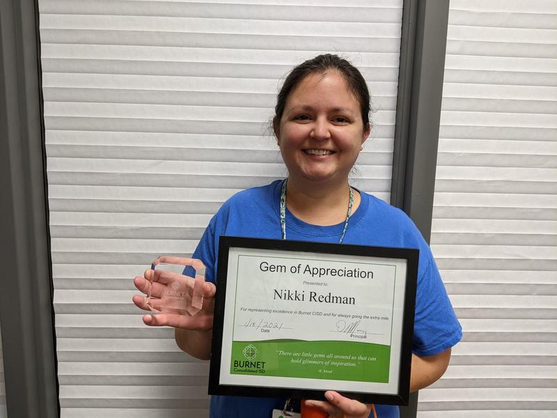 Congratulations to Mrs. Nikki Redman - QHS Gem of Appreciation! Thumbnail Image