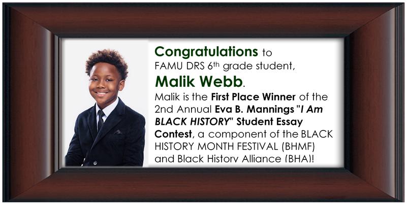 Malik Webb Honor Blurb