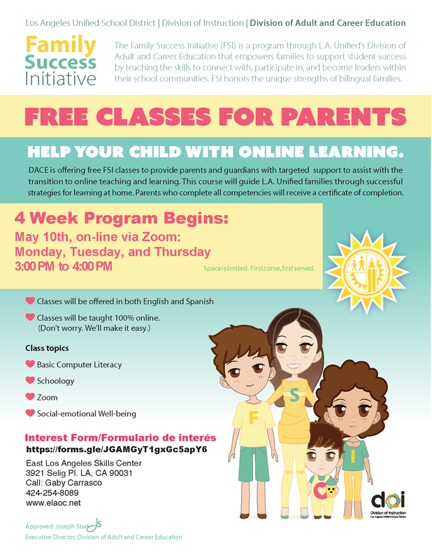 4-week course for parents on computer literacy