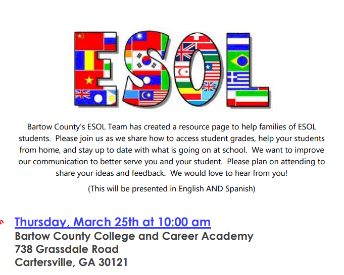 ESOL Parent Meeting Featured Photo