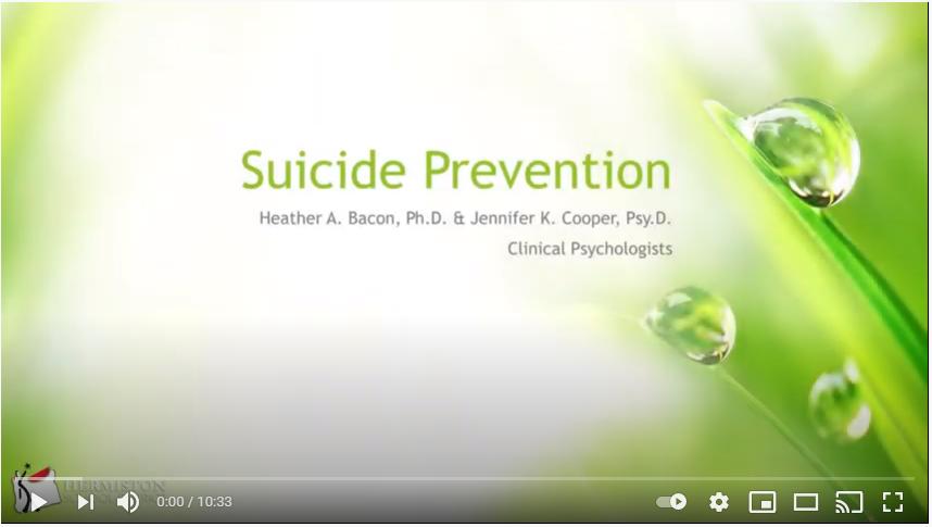 Suicide Prevention Video Image