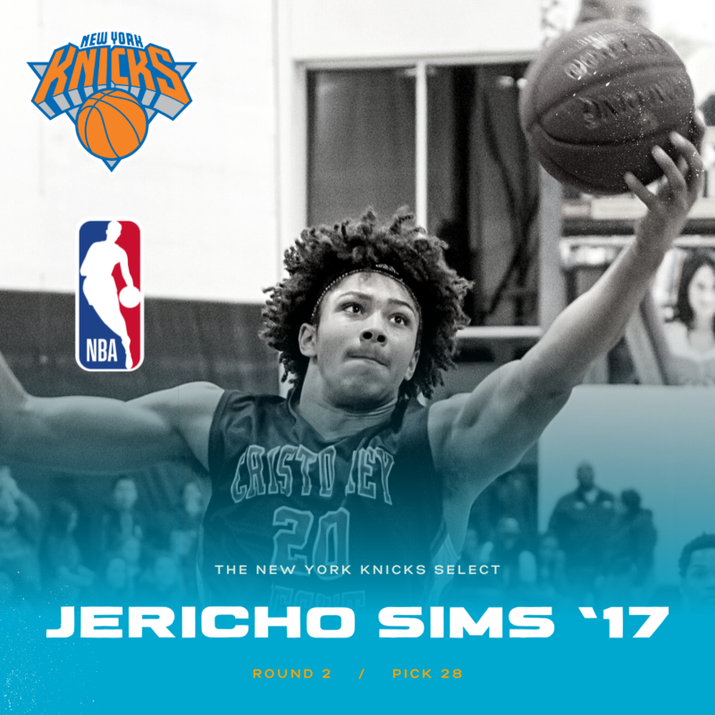 Jericho Sims '17 Selected 58th Overall In NBA Draft By New York Knicks Thumbnail Image
