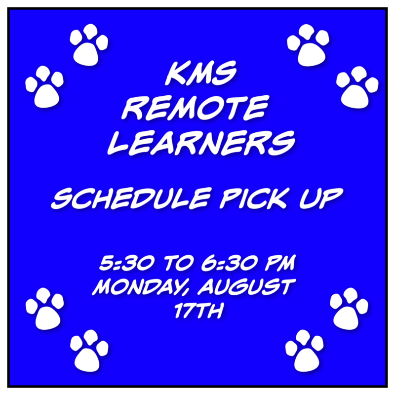 KMS Remote Learners Schedule Pick Up Featured Photo