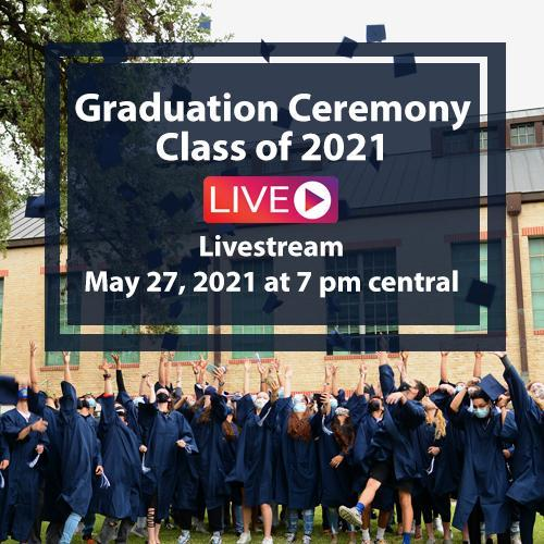 Watch the Class of 2021 Graduation Ceremony! Featured Photo