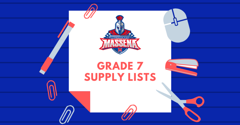 supply list grade 7